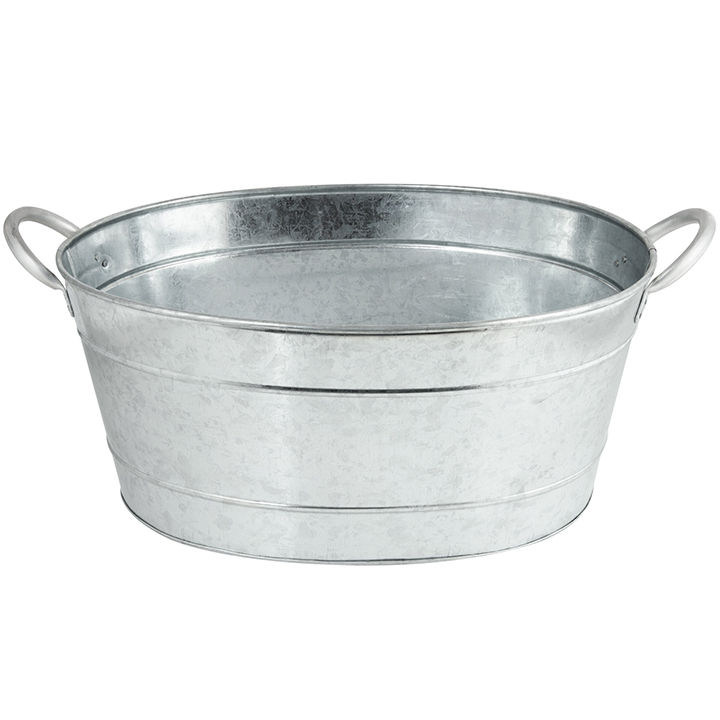 Galvanized oval tub for rent in nyc partyrentals us for Oval tub sizes