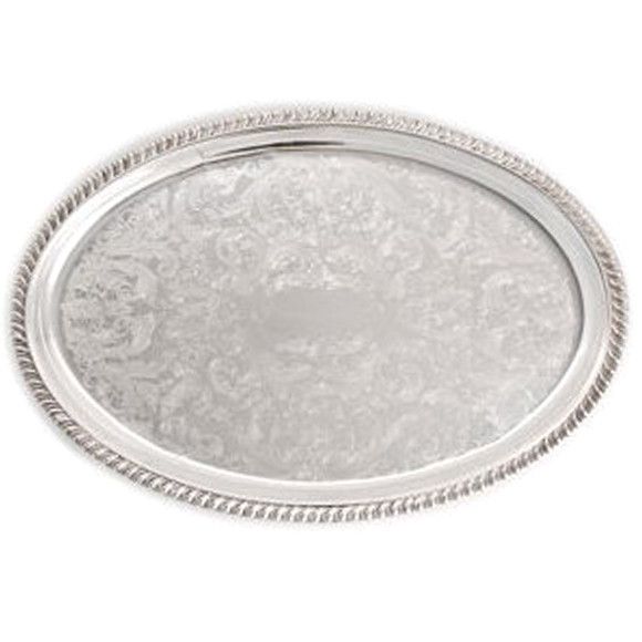 Silver Oval Tray For Rent In Nyc Partyrentals Us