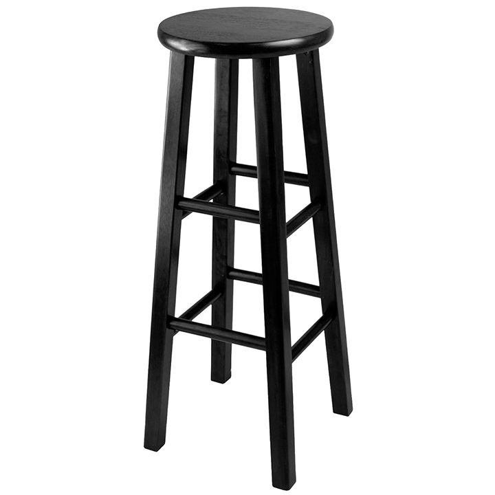 Tremendous Black Wood Bar Stool Ncnpc Chair Design For Home Ncnpcorg