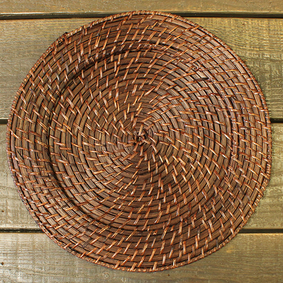Brown Rattan Charger Plate For Rent In Nyc Partyrentals Us