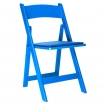 Blue Resin Folding Chair