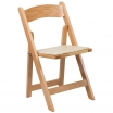 Natural Wood Resin Folding Chair