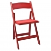 Red Resin Folding Chair