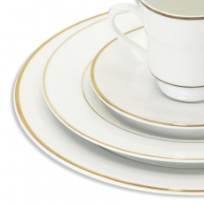 Gold Band Dinnerware for Rent