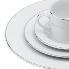 Silver Band Dinnerware for Rent