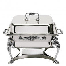 4 qt Square Silver Chafer for Rent