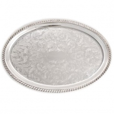 Silver Oval Tray for Rent