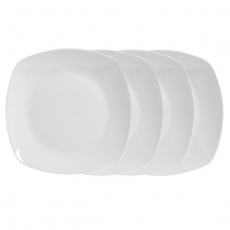 White Fusion Dinnerware for Rent