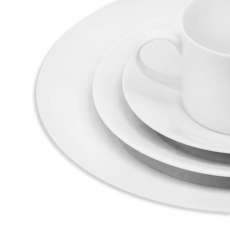 White Rim Dinnerware for Rent
