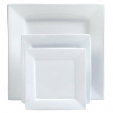 White Square Dinnerware for Rent