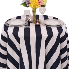 Colored Prints Cabana Stripe Tablecloth for Rent