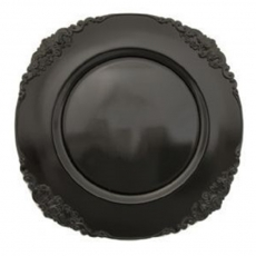 Black Scroll Melamine Charger Plate for Rent