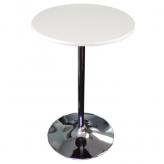Chrome Disc Base Round Cocktail Table for Rent