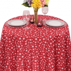 Colored Prints Stars Tablecloth for Rent