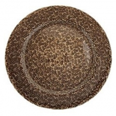 Espresso Bronze Glass ​Charger Plate for Rent