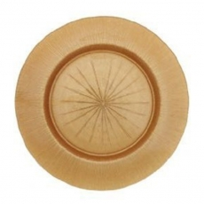Rose Gold Sunburst Glass Charger Plate for Rent