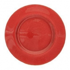 Ruby Red Glass Charger Plate for Rent