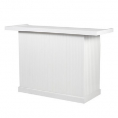 White Wainscoting Wood Bar for Rent