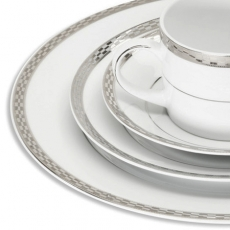 Athens Platinum Dinnerware for Rent