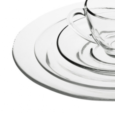 Moderno Glass Dinnerware for Rent