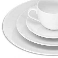 White Coupe Dinnerware for Rent