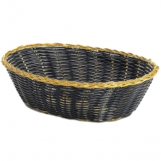 Gold Trim Black Basket for Rent