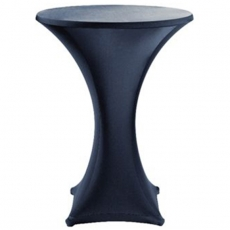 Round Cocktail Table Spandex Linen for Rent