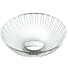 Silver Round Basket for Rent