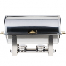 8 qt Roll Top Stainless Chafer for Rent