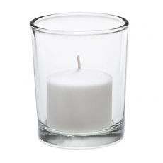 Clear Votive w/ Candle for Rent