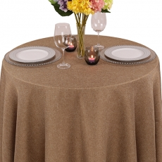 Faux Burlap Tablecloth for Rent
