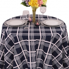 Nantucket Plaid Geometric Prints Tablecloth for Rent