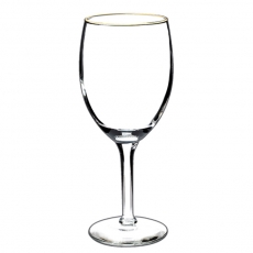 Gold Rim Wine Glass for Rent