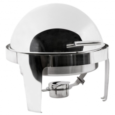 8 qt Round Roll Top Stainless Chafer for Rent
