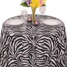 Colored Prints Animal Tablecloth for Rent