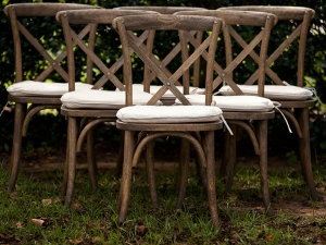 Sonoma chairs displayed at wedding