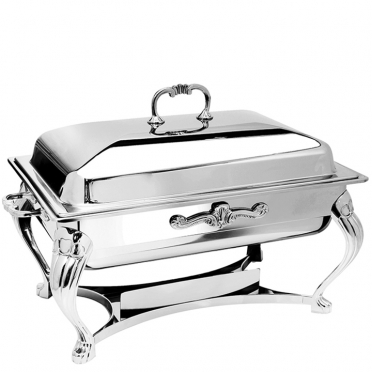 8 qt Rectangle Silver Chafer for Rent