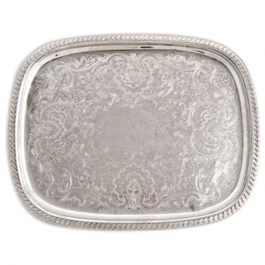 Silver Rectangular Tray for Rent