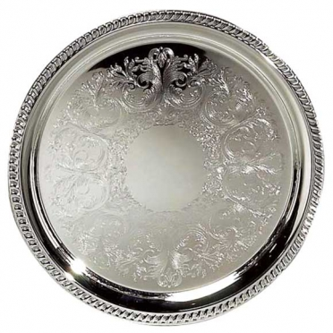 Silver Round Tray for Rent