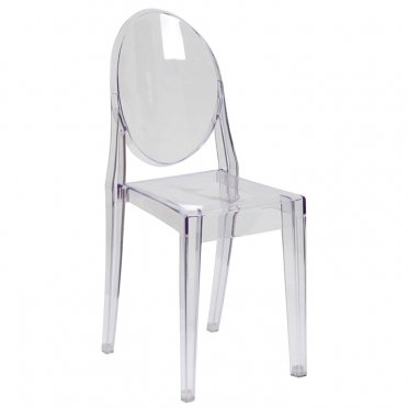 Chost Clear Chair w/ Arms for Rent