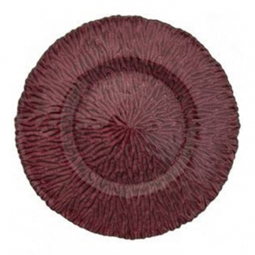 Amethyst Ripple Glass Charger Plate for Rent