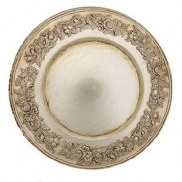 Floral Champagne Melamine Charger Plate for Rent