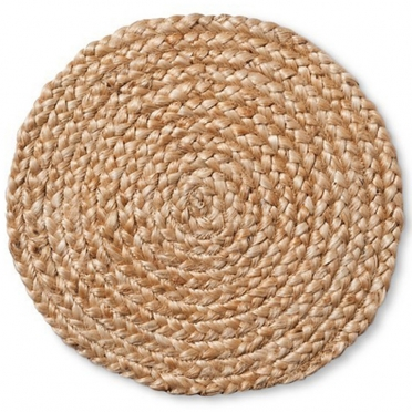 Natural Jute Braid Charger Plate for Rent