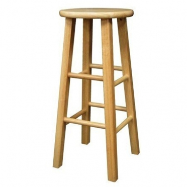 Natural Wood Bar Stool for Rent