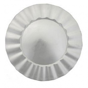 Silver Ruffle Melamine Charger Plate for Rent