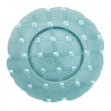 Tiffany Plaid Glass Charger Plate for Rent
