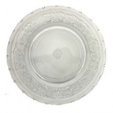 Trellis Glass Charger Plate for Rent