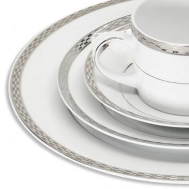Athens Platinum Dinnerware for Rent