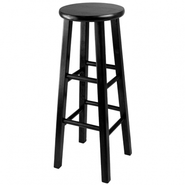 Black Wood Bar Stool for Rent