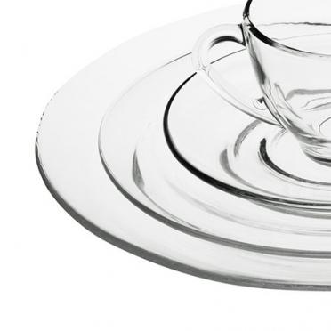 Moderno Glass Dinnerware for Rent